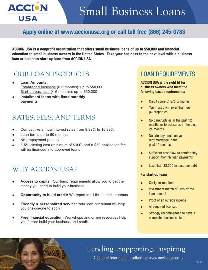 Accion Usa Small Business Loans
