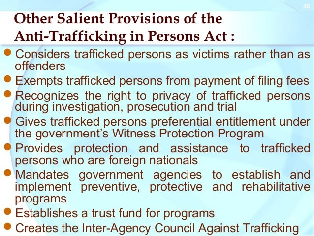anti trafficking act of the philippines Biography | resume for the past three decades, senator loren legarda has dedicated her work to serve the filipino people, primarily by promoting the sustainable and.
