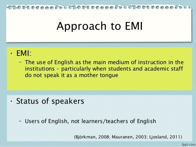 english a medium of instruction essay What role does the language of instruction play for a successful  what this essay explores is the role english as a second  english as a medium of instruction.