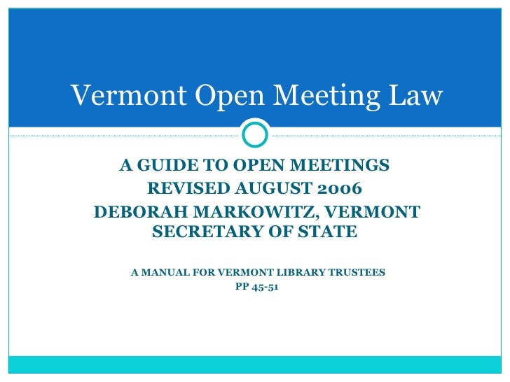 act meeting open Q: what is a sunshine law a: in ohio, the sunshine laws refer to ohio's public records act and ohio's open meetings act these statutory laws are based on the notion that there should be openness in government, with public access to records and meetings and the conduct and activities of.