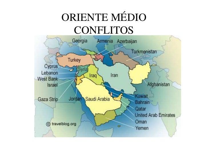 ORIENTE MÉDIO  CONFLITOS