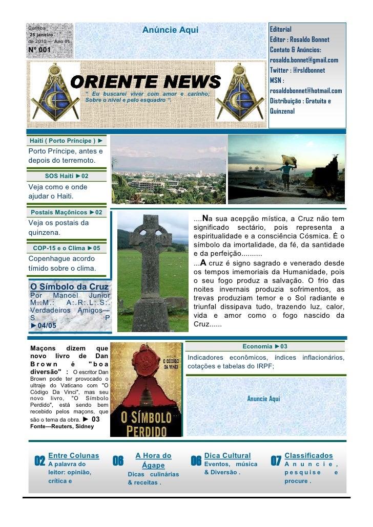 Curitiba                                       Anúncie Aqui                            Editorial  25 janeiro de 2010 — Ano...