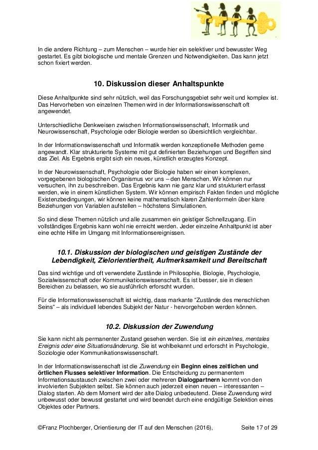 ©Franz Plochberger, Orientierung der IT auf den Menschen (2016), Seite 17 of 29 In die andere Richtung – zum Menschen – wu...