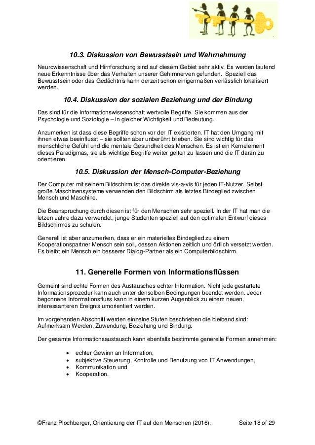 ©Franz Plochberger, Orientierung der IT auf den Menschen (2016), Seite 18 of 29 10.3. Diskussion von Bewusstsein und Wahrn...