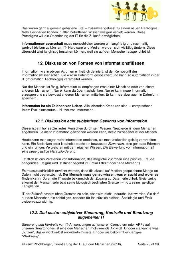 ©Franz Plochberger, Orientierung der IT auf den Menschen (2016), Seite 23 of 29 Das waren ganz allgemein gehaltene Titel –...