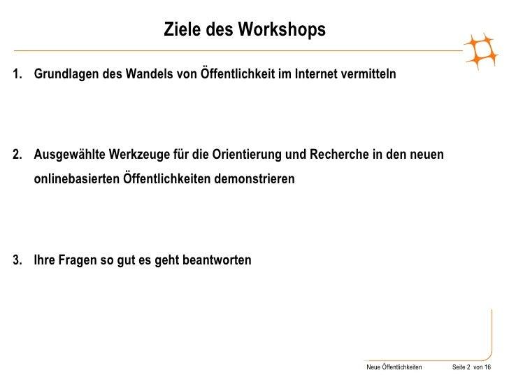 Orientierung in Öffentlichkeiten des Social Web Slide 2