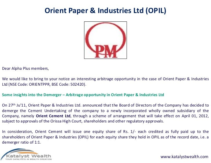 orient paper and industries research report Orient paper & industries limited rating  for detailed rationale report and subscription information,  2 credit analysis & research limited brief rationale.