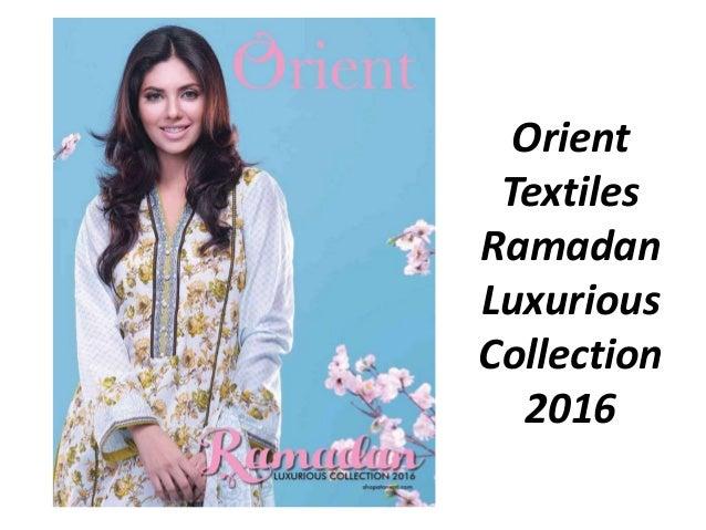 Orient Textiles Ramadan Luxurious Collection 2016
