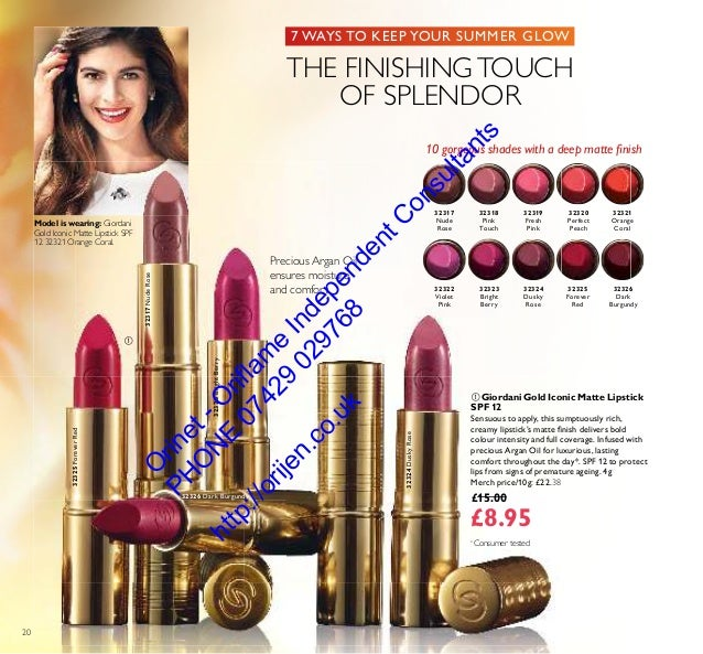 Oriflame Cosmetics Catalogue 12 August Spetember