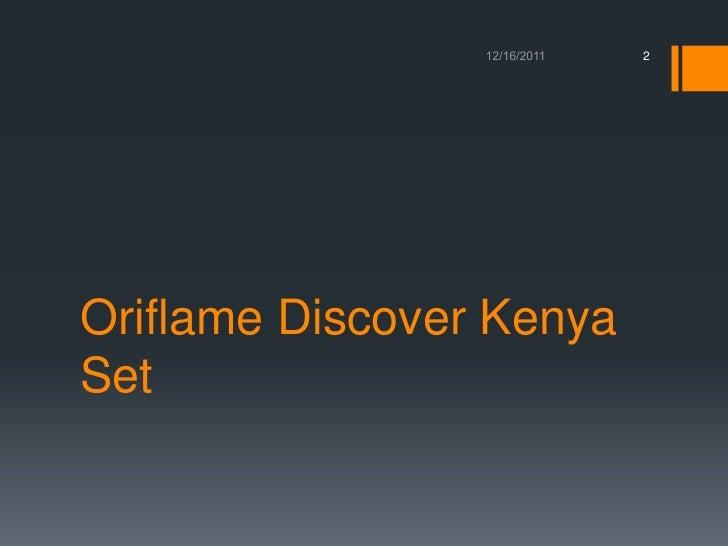 Oriflame discover kenya set translation (2) Slide 2