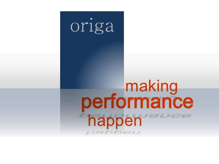 making<br />       performance<br />happen<br />