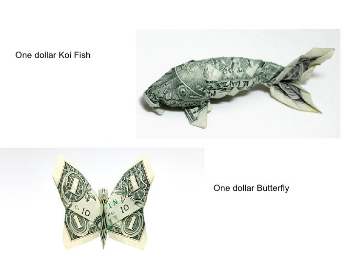 WATCH: time-lapse origami turns a dollar bill into a koi fish ... | 546x728