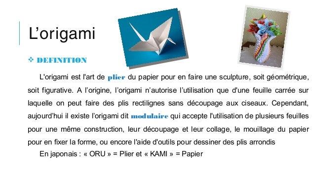 l'origami definition