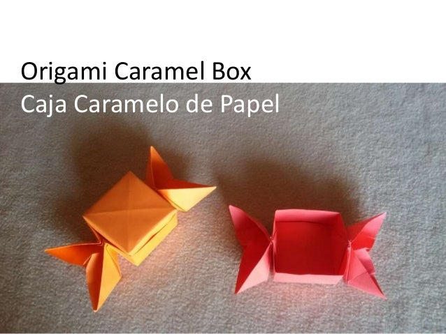 Origami Caramel Box Caja Caramelo de Papel