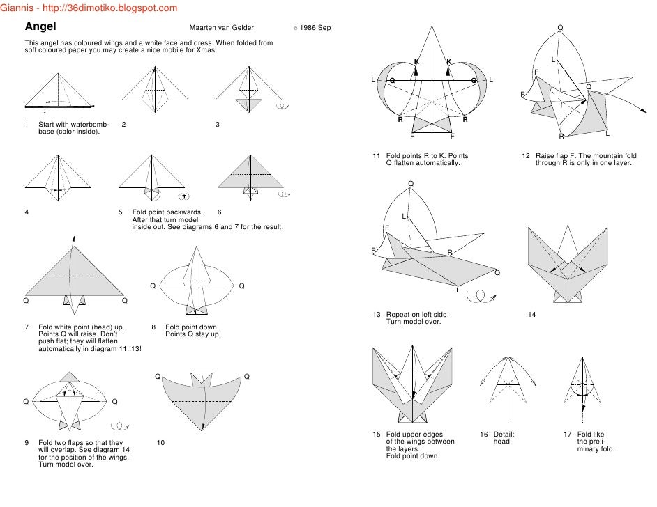 origami angel diagrams schematic wiring diagram u2022 rh cosmeticexpress co Origami Crane Diagram Complex Origami Diagrams