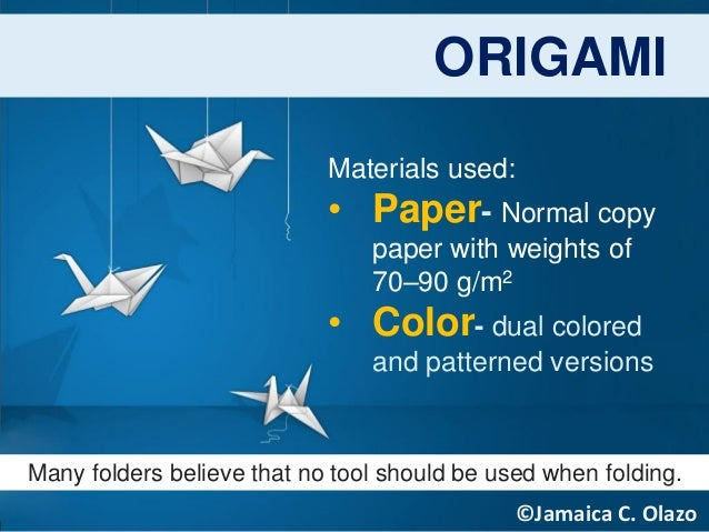 ORIGAMI PRODUCTION