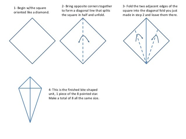 how to make a 8 pointed star