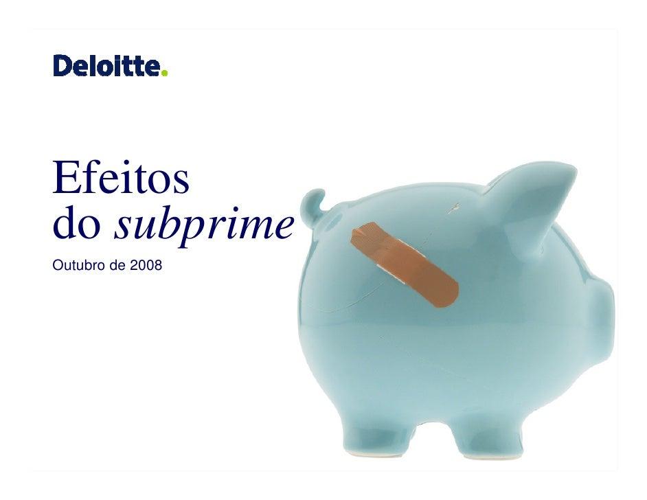Efeitos do subprime Outubro de 2008