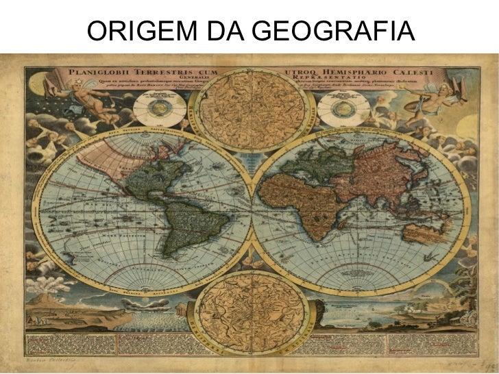 ORIGEM DA GEOGRAFIA