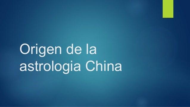 Origen de la  astrologia China