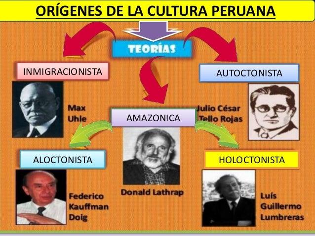 INMIGRACIONISTA AUTOCTONISTA AMAZONICA ALOCTONISTA HOLOCTONISTA ORÍGENES DE LA CULTURA PERUANA