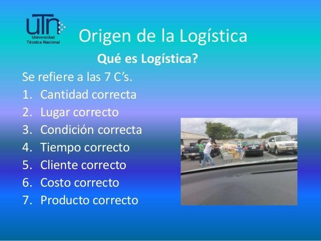 Resultado de imagen de LOS 6 CORRECTOS LOGISTICA