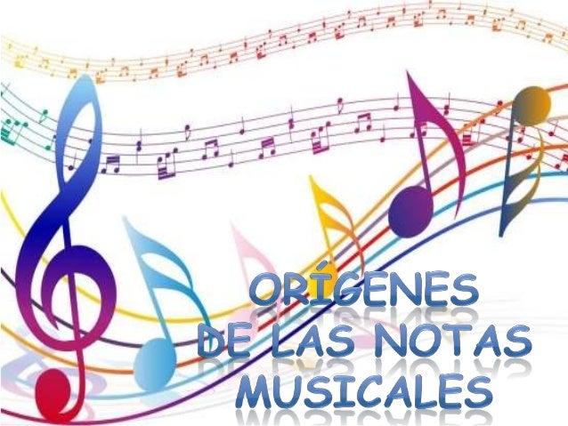 Origen De Las Notas Musicales