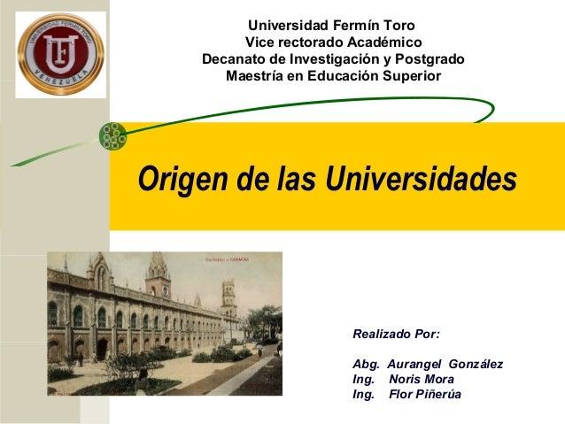Universidad Fermín Toro         Vice rectorado Académico    Decanato de Investigación y Postgrado       Maestría en Educac...