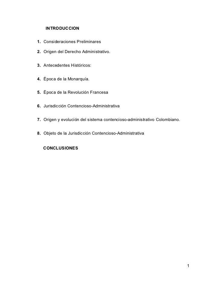 INTRODUCCION1. Consideraciones Preliminares2. Origen del Derecho Administrativo.3. Antecedentes Históricos:4. Época de la ...