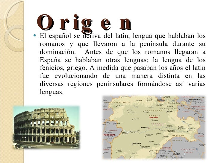 origen idioma espanol