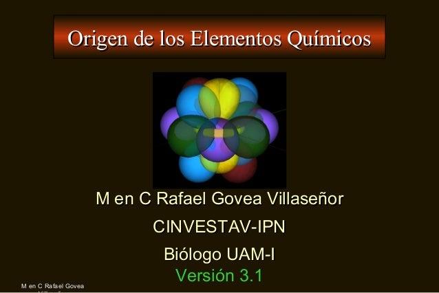 Origen De Los Elementos Quimicos