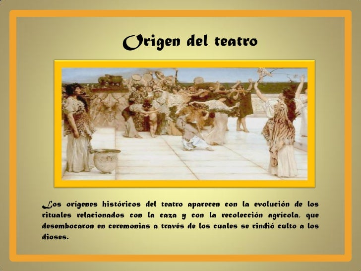 Resultado de imagen de teatre origens