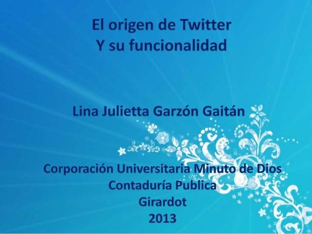 QUE ES TWITTERTwitter es una aplicación web gratuita demicroblogging que reúne las ventajas de los blogs,las redes sociale...