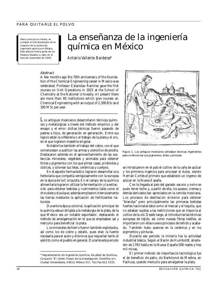 PARA QUITARLE EL POLVO                                                La enseñanza de la ingeniería      Hace unos pocos m...