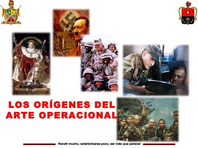 LOS ORÍGENES DELARTE OPERACIONAL