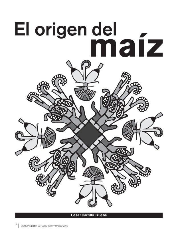 4CIENCIAS 92-93 OCTUBRE 2008 MARZO 2009César Carrillo Trueba