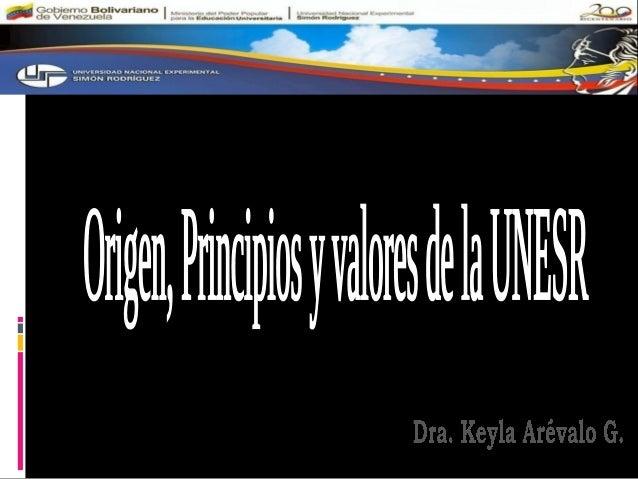 PROPÓSITOS DEL TALLER *REFLEXIONAR COLECTIVAMENTE SOBRE LA UNESR: ORIGEN, PRINCIPIOS Y VALORES, CON EL FIN DE GENERAR ORIE...