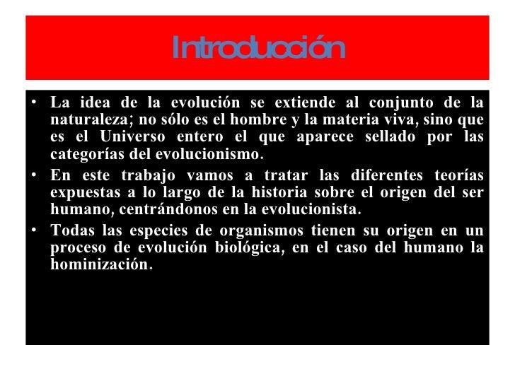 O R I G E N  Y  E V O L U C IÓ N  D E L  H O M B R E (97  2003) Slide 3