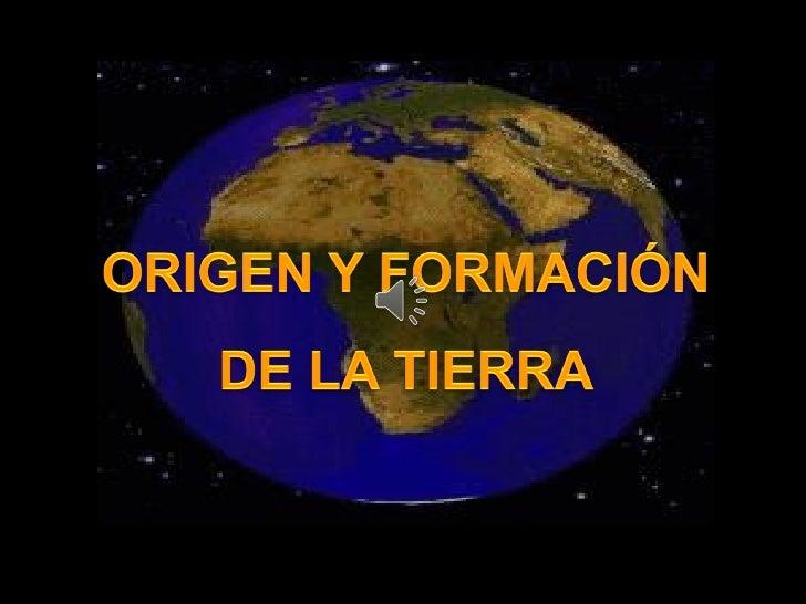 Es el principio o laprocedencia      del   Es la apariciónPlaneta Tierra y el    del       Planetacual es el mismo       T...