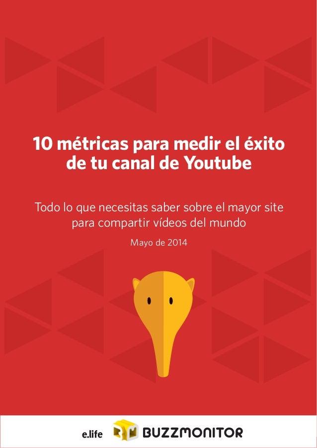 1 10 métricas para medir el éxito de tu canal de Youtube Todo lo que necesitas saber sobre el mayor site para compartir ví...