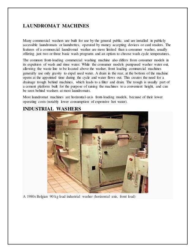 powered washing machine