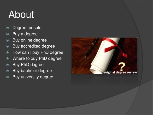Buy a phd degree