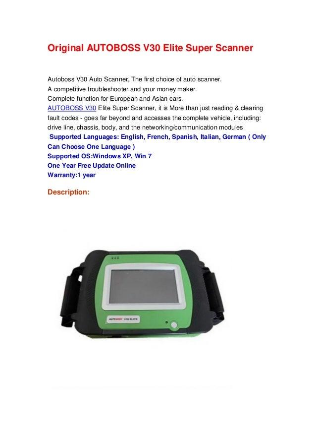 Original AUTOBOSS V30 Elite Super Scanner Autoboss V30 Auto Scanner, The first choice of auto scanner. A competitive troub...