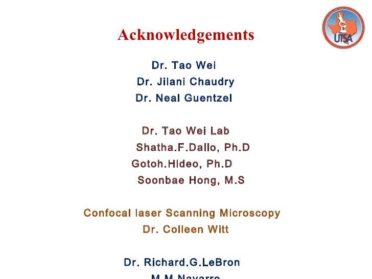 Phd thesis defense acknowledgements slide