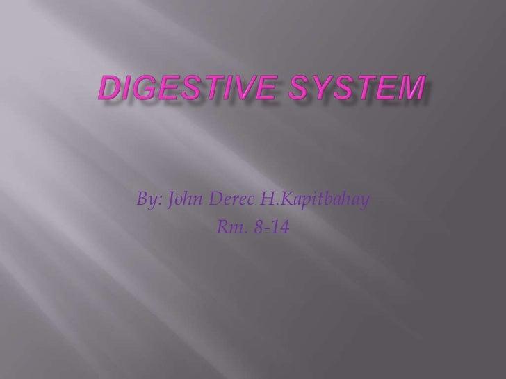 Digestive System<br />By: John DerecH.Kapitbahay<br />Rm. 8-14<br />