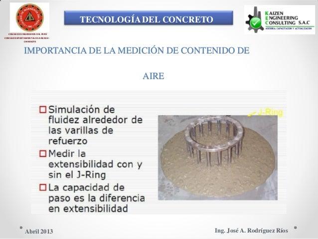 TECNOLOGÍA DEL CONCRETO COLEGIO DE INGENIEROS DEL PERÚ CONSEJO DEPARTAMENTAL DE ANCASH - CHIMBOTE IMPORTANCIA DE LA MEDICI...