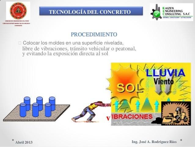 TECNOLOGÍA DEL CONCRETO COLEGIO DE INGENIEROS DEL PERÚ CONSEJO DEPARTAMENTAL DE ANCASH - CHIMBOTE PROCEDIMIENTO Colocar l...