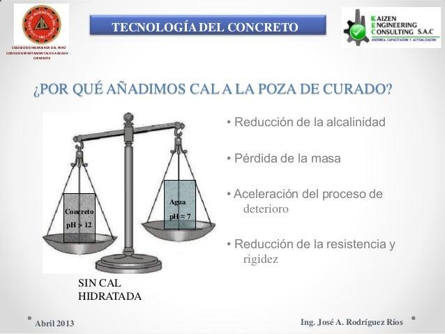 TECNOLOGÍA DEL CONCRETO COLEGIO DE INGENIEROS DEL PERÚ CONSEJO DEPARTAMENTAL DE ANCASH - CHIMBOTE ¿POR QUÉ AÑADIMOS CAL A ...