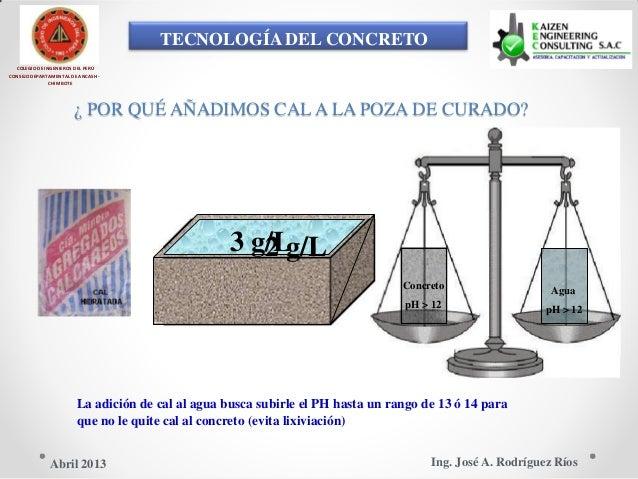 TECNOLOGÍA DEL CONCRETO COLEGIO DE INGENIEROS DEL PERÚ CONSEJO DEPARTAMENTAL DE ANCASH - CHIMBOTE ¿ POR QUÉ AÑADIMOS CAL A...