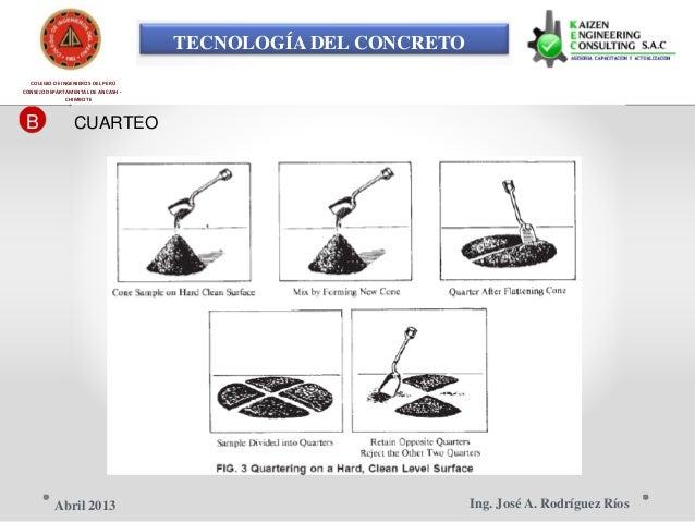 TECNOLOGÍA DEL CONCRETO COLEGIO DE INGENIEROS DEL PERÚ CONSEJO DEPARTAMENTAL DE ANCASH - CHIMBOTE B CUARTEO Ing. José A. R...